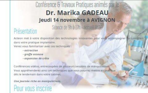 Conférence et Travaux pratiques Chirurgie Piezoélectrique