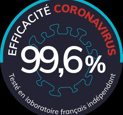 Rapport d'efficacité du purificateur d'air Eolis de Natéo Santé