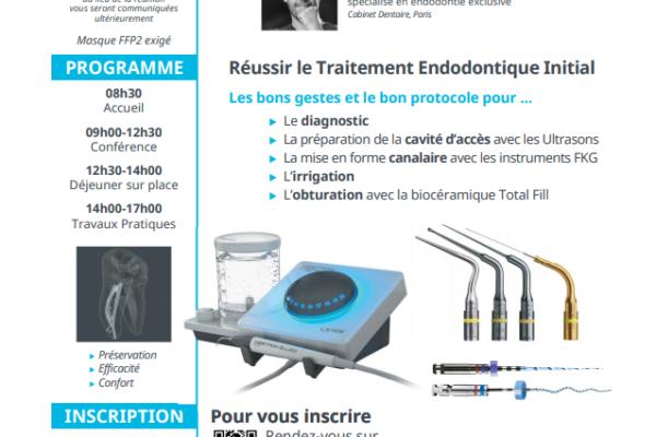 Conférence et Travaux pratiques Endodontie Juillet 2021