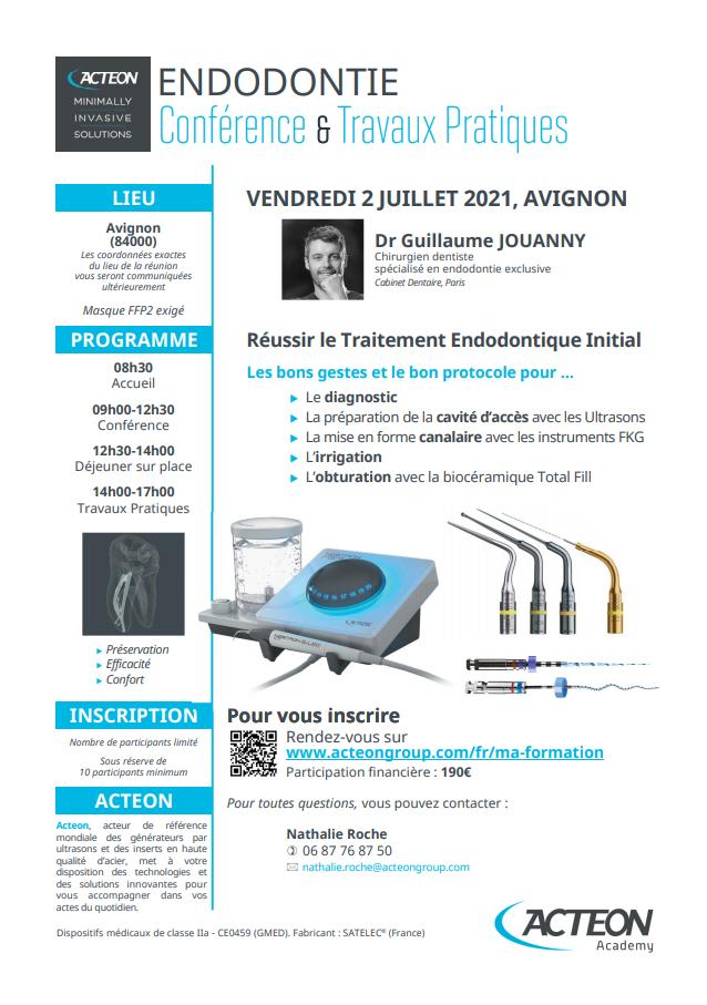 Conférence Endodontie Avignon
